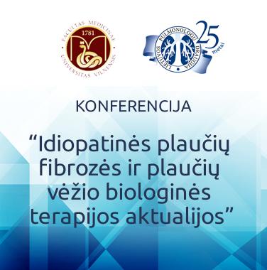 """KONFERENCIJA """"Idiopatinės plaučių fibrozės ir plaučių vėžio biologinės terapijos aktualijos"""", 2017-09-22, Vilnius"""